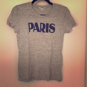 Paris graphic tee gray